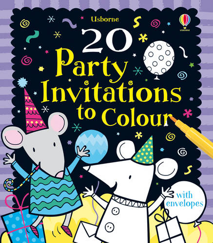 20 Party Invitations to Colour (Usborne Cards to Colour)